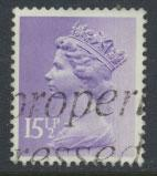 GB Machin 15½p  SG X907  Scott MH92 Used   please read details