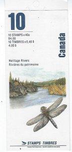 CANADA SCOTT #1321-25B 1991 CANADIAN RIVERS- BOOKLET (SEALES)