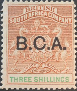 Nyasaland/BCA 1895 Three Shillings SG 10 mint