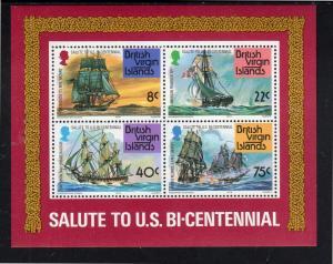 VIRGIN ISLANDS #312a  1976  AMERICAN BICENTENNIAL        MINT VF NH O.G  S/S