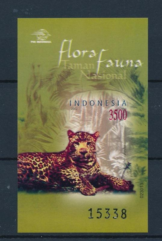 [39288] Indonesia 2002 Wild Animals Mammals Tiger Imperforated MNH Sheet
