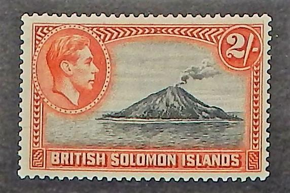 Solomon Islands 76. 1939 2/- Deep orange & black KGVI
