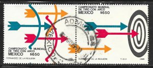 Mexico 1618-1619: 1300p Bows, Arrows and Target, used, VF
