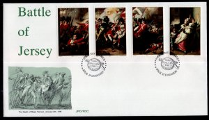 Jersey 242-245 Battle of Jersey U/A FDC