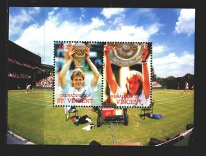 Saint Vincent and the Grenadines. 1988. bl37. Tennis. MNH.