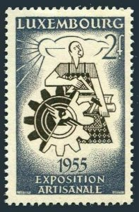 Luxembourg 304,MNH.Michel 535. Handcraft EXPO,1955.Artisan,Wheel and tools.