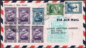 PORTUGUESE GUINEA 1941 first flight cover to Puerto Rico...................17837