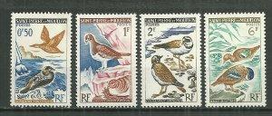 1963 St Pierre & Miquelon Birds MH C/S of 4