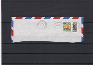 Jamaica Judicial Bisect Stamps Postally Used Part Cover Ref 26752