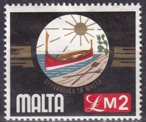 Malta #504  F-VF Unused CV $11.00  (A19889)