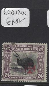 NORTH BORNEO (P1512B) 24C BIRD RED CROSS  SG 212   VFU