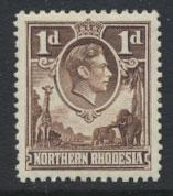 Northern Rhodesia  SG 27  SC# 27 MH  see detail and scan