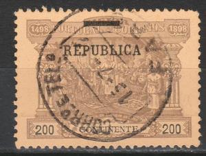 PORTUGAL 1911 REPUBLIC DA GAMA CALICUT 200R USED