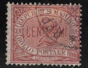 San Marino Scott 3 Used 1895 stamp CV 19$