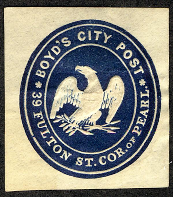 US #LOCAL 20LU4 SCV $175.00 VF+ mint, cut square, Boyd's City Post, nice and ...