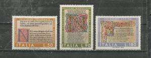 Italy Scott catalogue # 1077-1079 Unused HR