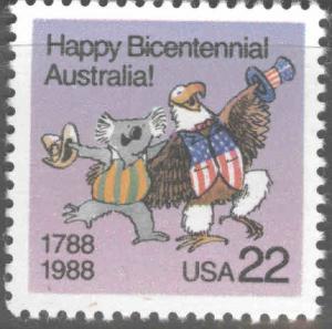 USA Scott 2370 MNH** Australia Bicentennial; stamp