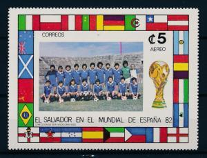 [59380] El Salvador 1982 World Cup Soccer Football Spain MNH Sheet
