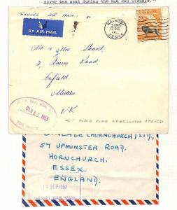 AG273 1955 KUT Nairobi GB Forces Mau Mau x 2/Middx Enfield/Essex Hornchurch
