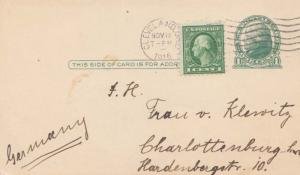 United States Ohio Cleveland 1916 machine  1c Washington Franklin on 1c Green...