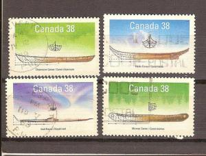 CANADIAN SET ON SMALL CRAFT-1 USED STAMPS  LOT#215
