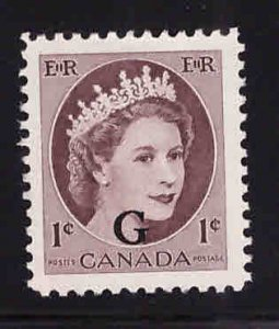 Canada Scott o40 MNG  Official overprint on QE2 stamp