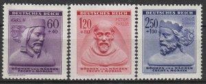 Stamp Germany Bohemia Czechoslovakia Mi 114-6 Sc B15-7 1940 WWII Karl Parler MH