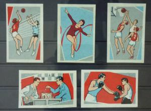 Match Box Labels ! sport volleyball chess basketball box athletics GN102