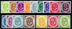 HERRICKSTAMP GERMANY Sc.# 670-85 Rare Numeral & Post Horn Stamp Issue