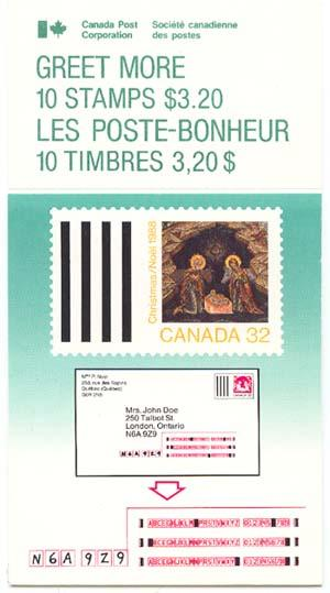Canada - 1988 Christmas Greet More Booklet VF-NH #BK99