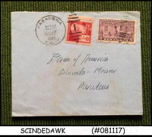 UNITED STATES USA - 1940 ENVELOPE TO PASADENA with STAMPS