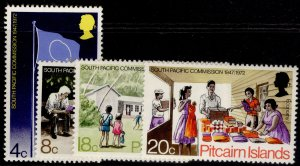 PITCAIRN ISLANDS QEII SG120-123, complete set, NH MINT.