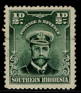 SOUTHERN RHODESIA GV SG1, ½d blue-green, FINE USED.