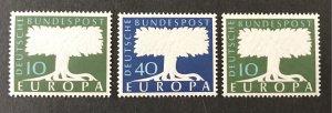 Germany  1957-8 #771-2a, MNH, CV $11.35