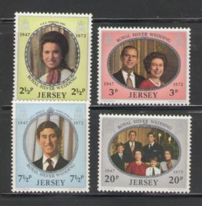 Jersey Sc 73-6 1972 Royal Anniv  stamps mint NH