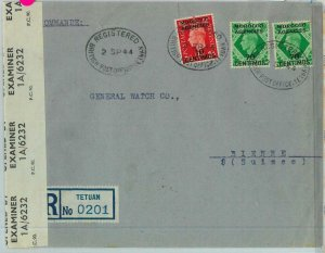 BK0280 -  MOROCCO AGENCIES - POSTAL HISTORY: COVER: TETUAN to SWITZERLAND 1944