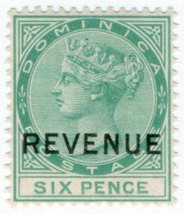 (I.B) Dominica Revenue : Duty Stamp 6d
