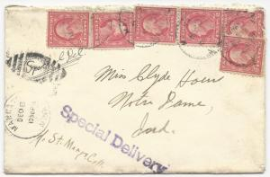 { US Special Delivery Cover Mankato, Minn December 8, 1916