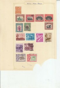 NORTH BORNEO / SABAH  2 ALBUM PAGES OF MINT/USED VALUES/SETS
