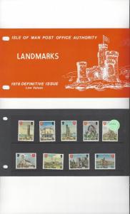 Isle of Man 113-29 Landmarks Definitives 1978 MNH Presentation Pack