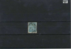 Norway 1863 4 Skilling Blue Used Stamp Ref: R7489