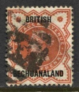 STAMP STATION PERTH British Bechuanaland #10 QV Overprint Used - CV$1.50