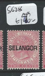 MALAYA SELANGOR (P0510B) 2C QV  SG28   MOG