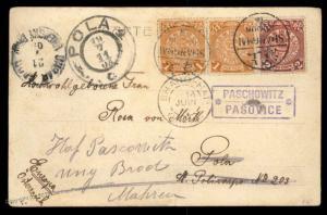 Austria 1911 China SMS Kaiserin Elisabeth Navy WOOSUNG Shanghai Feldpost C 91048