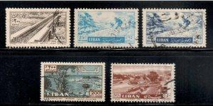 Lebanon Airmail # C191 , C203 , C206 , C302 & C315 - F-VF used - I Combine S/H
