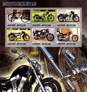 Guinea-Bissau MNH S/S Motor Speed Cycles 2005