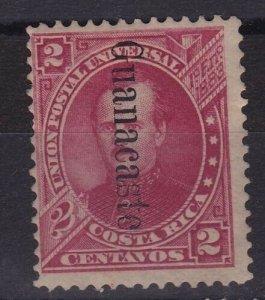 Costa Rica Guanacaste Overprint Scott 24 OG H CV$1500