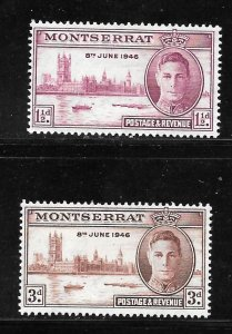 Montserrat 104-105: King George VI and Parliament in London, MH, F-VF