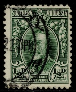 SOUTHERN RHODESIA GV SG15, ½d green, FINE USED. PERF 12