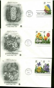 US FDC #2760 - #2764 Postal Commemorative Society Set of 3 Cachets Spokane, WA